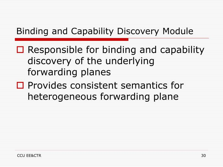 Binding and Capability Discovery Module