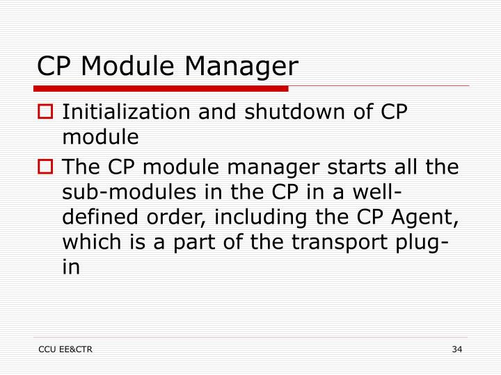 CP Module Manager