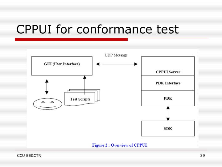 CPPUI for conformance test