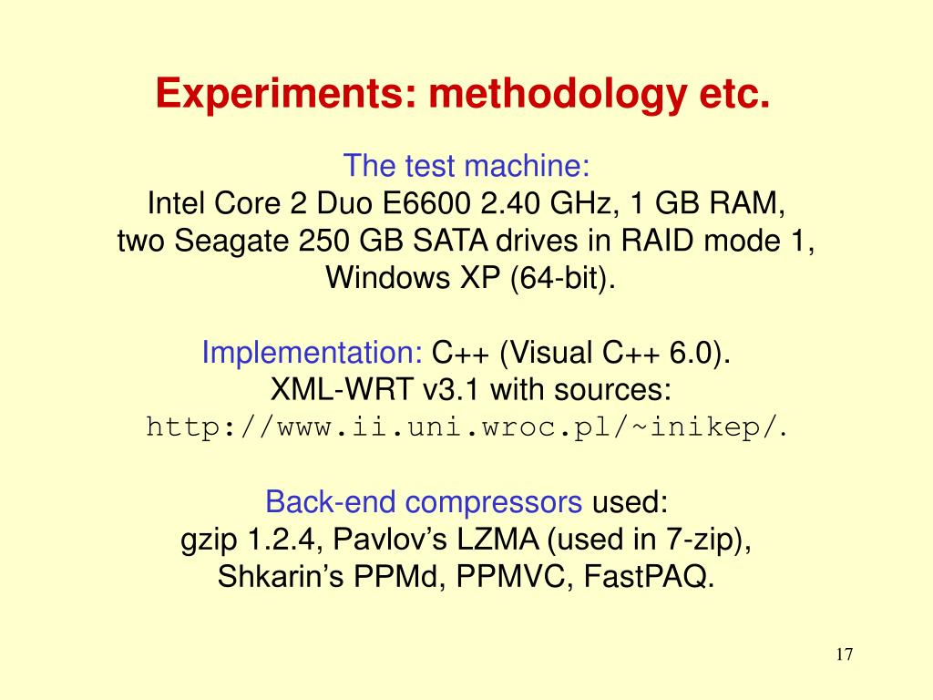 PPT - A Highly Efficient XML Compression Scheme for the Web