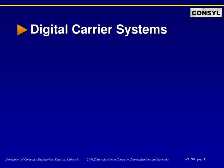 digital carrier systems n.