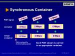 synchronous container