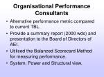 organisational performance consultants