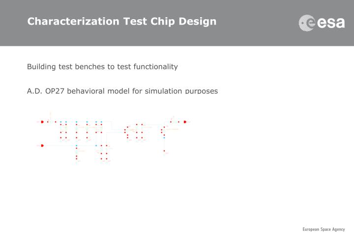 Characterization Test Chip Design