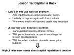 lesson 1a capital is back