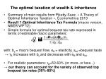the optimal taxation of wealth inheritance