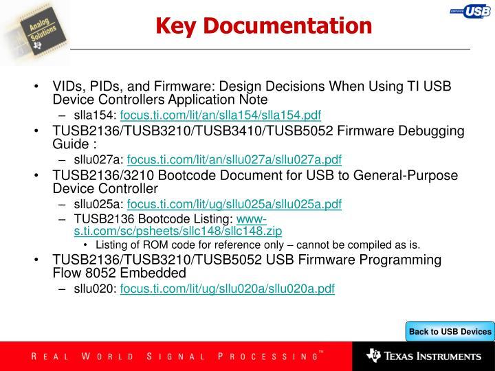 Key Documentation