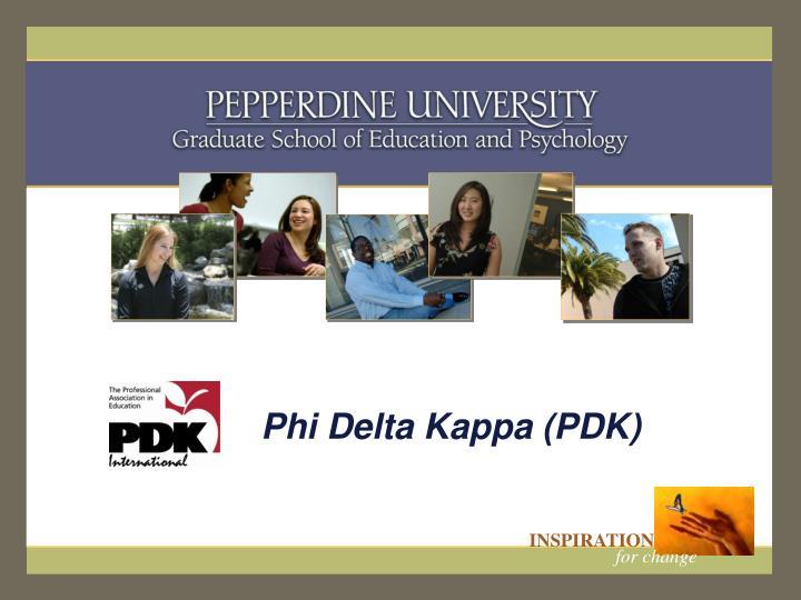 Phi delta kappa pdk
