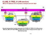 e line e tree e lan services mpls tp deploys evc as generic transport service layer