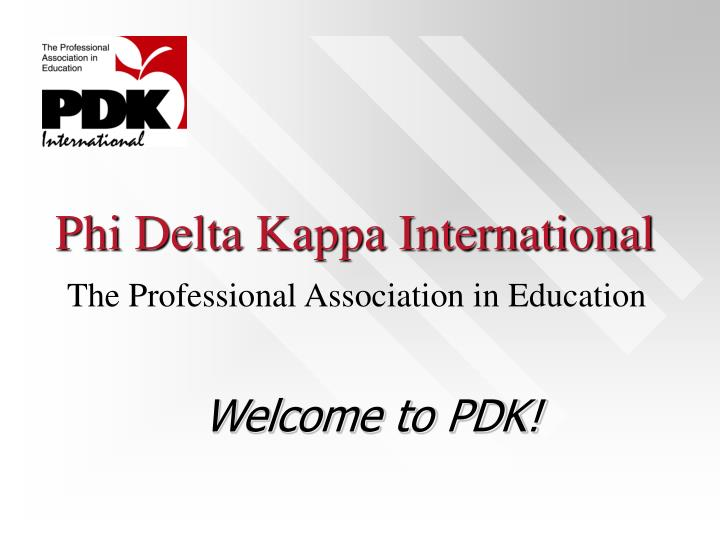 Phi delta kappa international