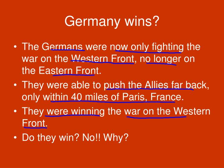 Germany wins?