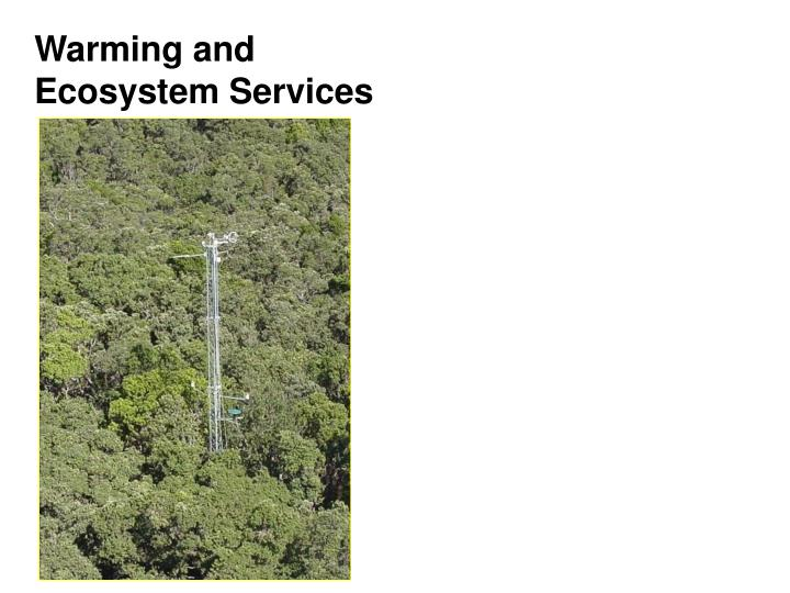Warming and Ecosystem Services