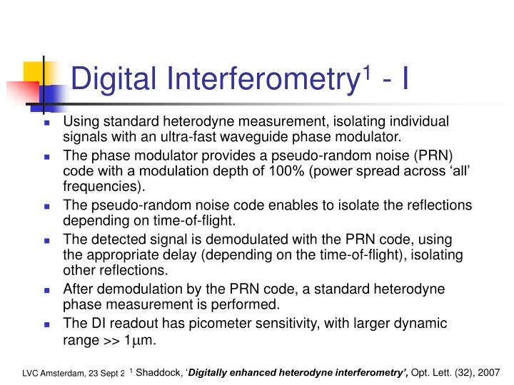 Digital Interferometry