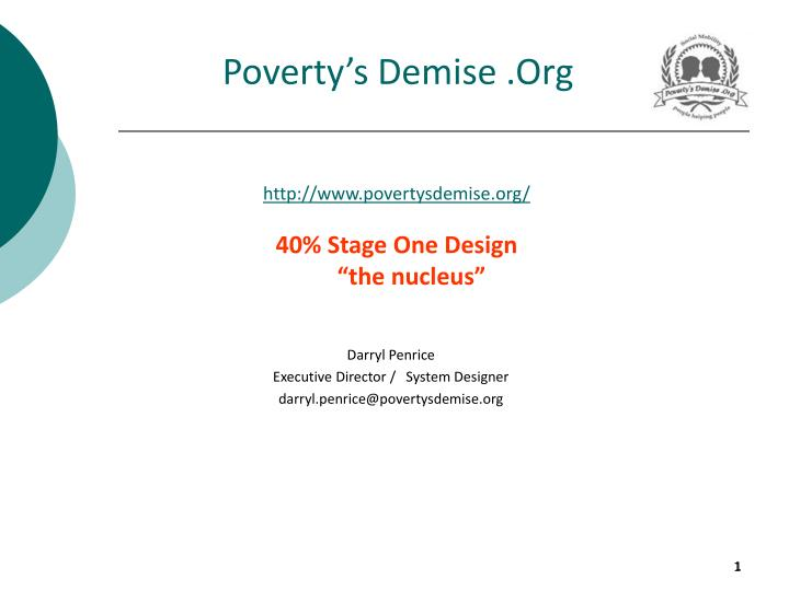 Poverty s demise org