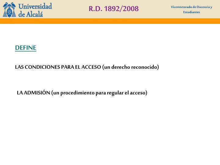 R.D. 1892/2008