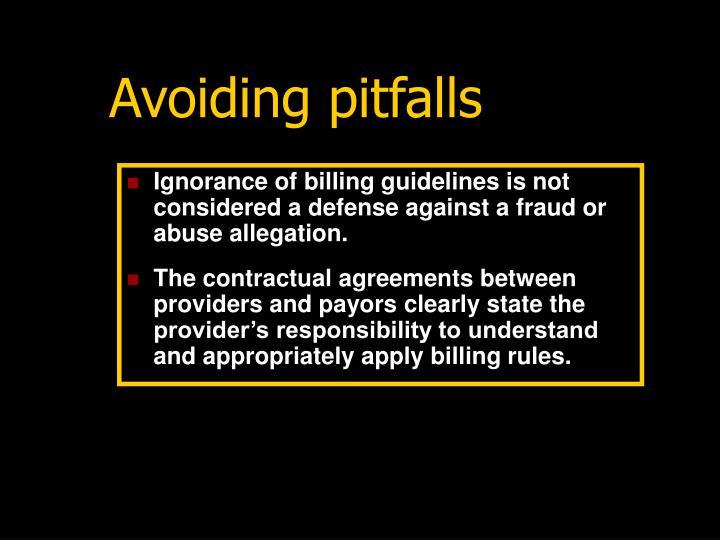 Avoiding pitfalls