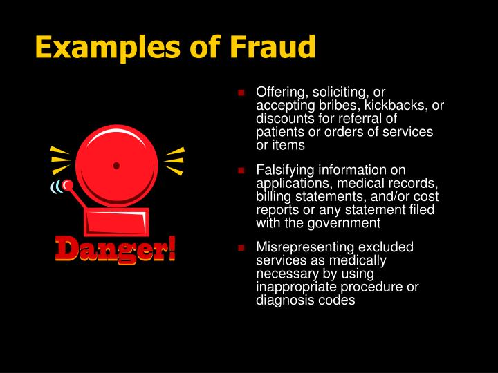 Examples of Fraud