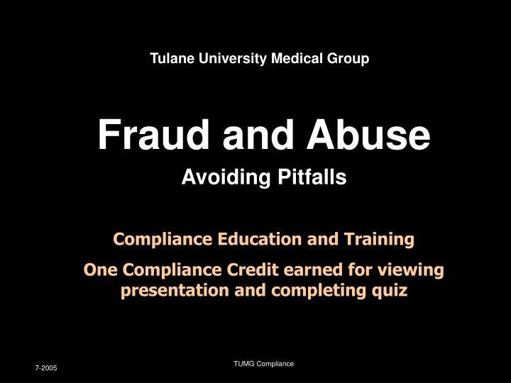 Fraud and abuse avoiding pitfalls