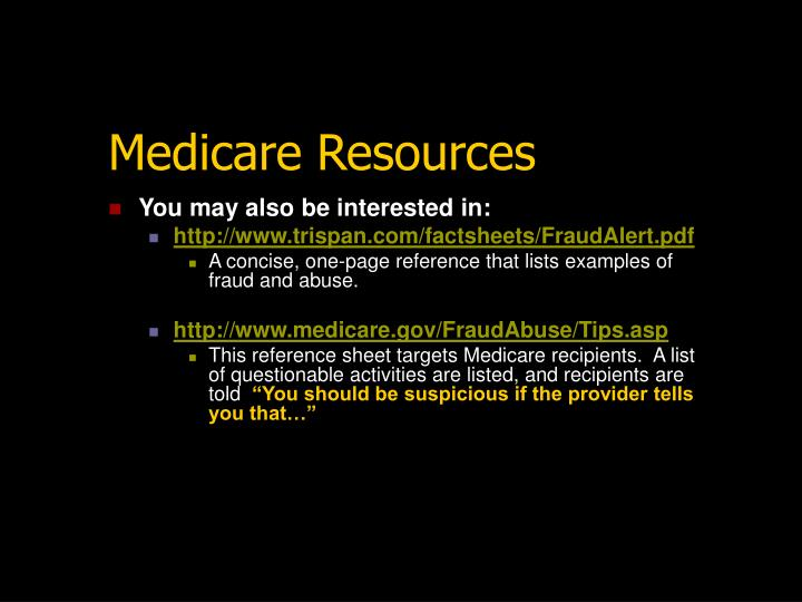 Medicare Resources