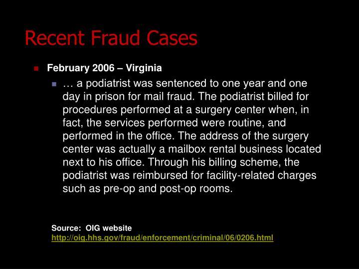 February 2006 – Virginia