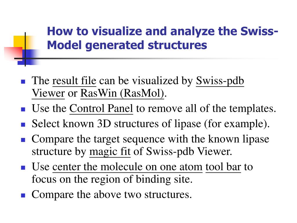 PPT - 3D structure - Swiss Pdb Viewer PowerPoint
