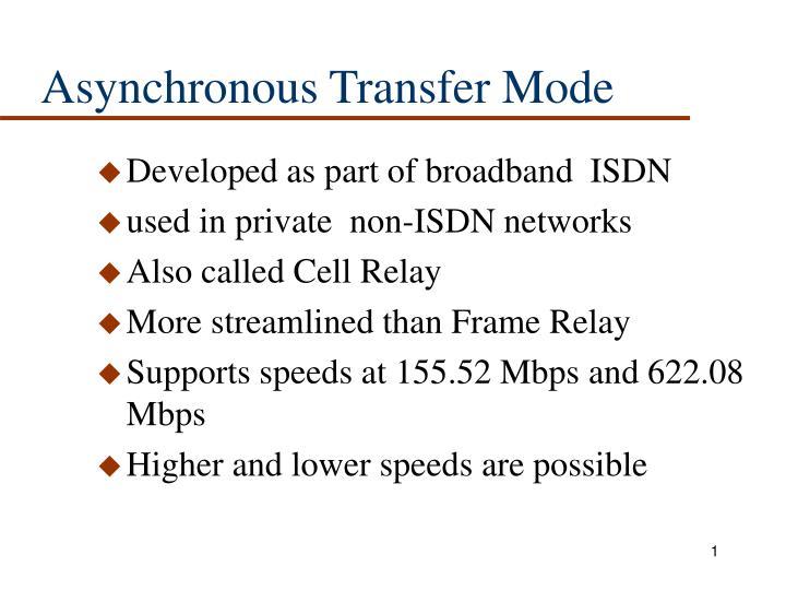 asynchronous transfer mode n.