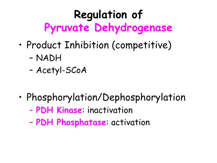 Regulation of