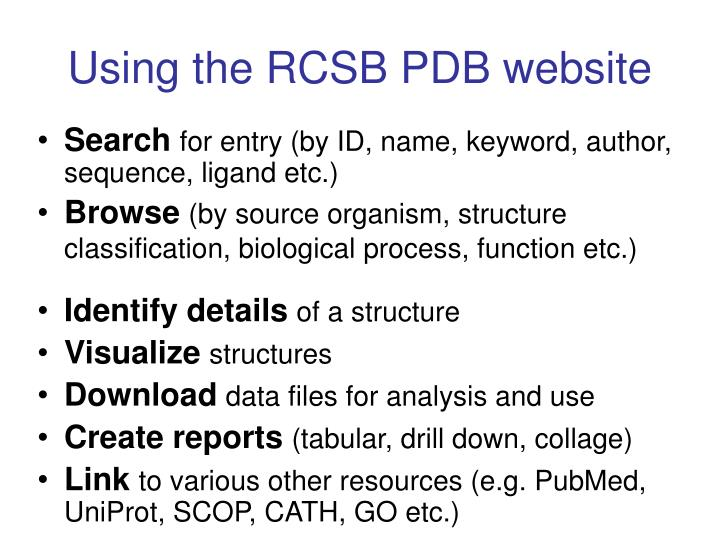 Using the RCSB PDB website