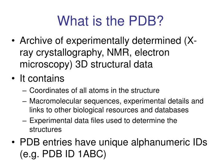 What is the pdb