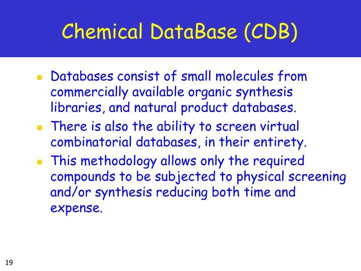 Chemical DataBase (CDB)