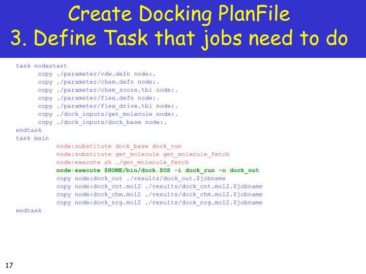 Create Docking PlanFile