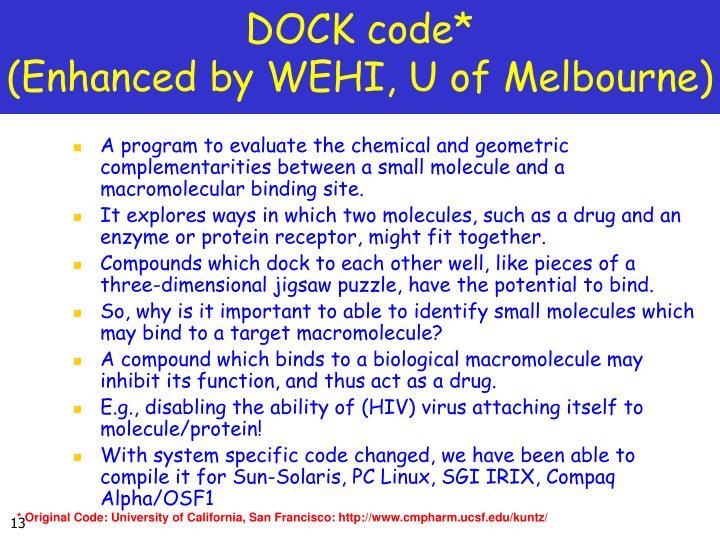 DOCK code*