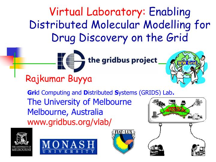 Virtual laboratory enabling distributed molecular modelling for drug discovery on the grid