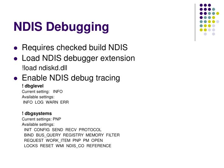NDIS Debugging