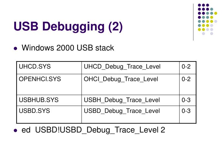 USB Debugging (2)