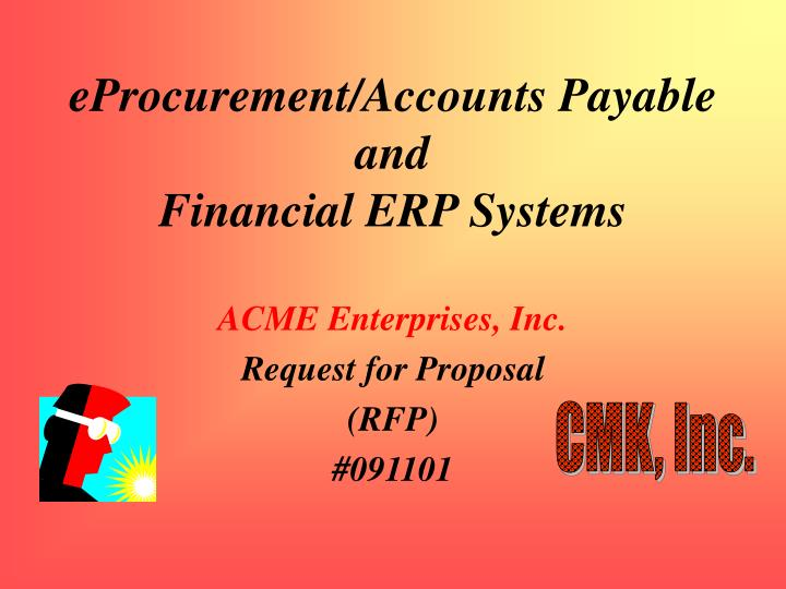 Eprocurement accounts payable and financial erp systems