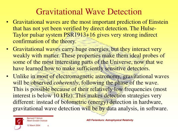 Gravitational Wave Detection