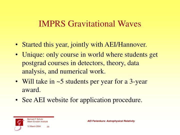 IMPRS Gravitational Waves