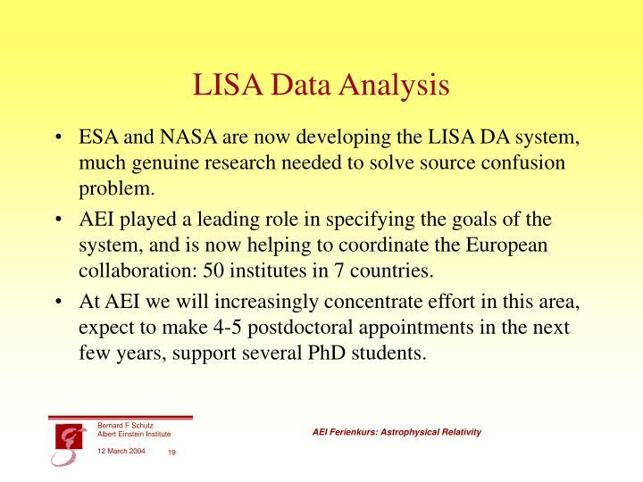 LISA Data Analysis
