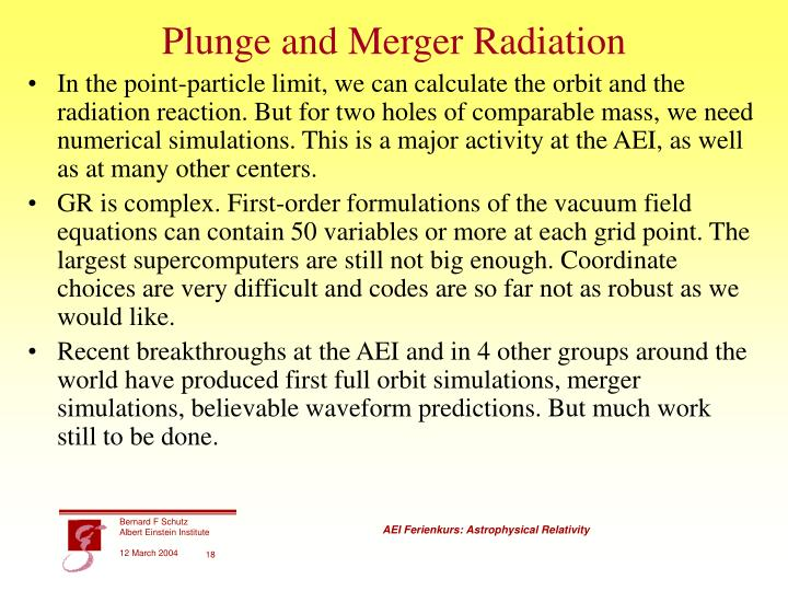 Plunge and Merger Radiation