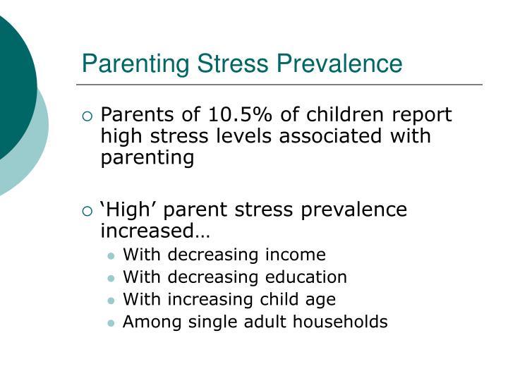 Parenting Stress Prevalence