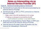 notes on interworking via an internet service provider 1