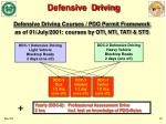 defensive driving courses pdo permit framework as of 01 july 2001 courses by oti nti tati sts