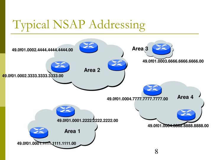 Typical NSAP Addressing