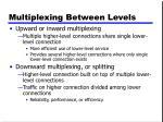 multiplexing between levels