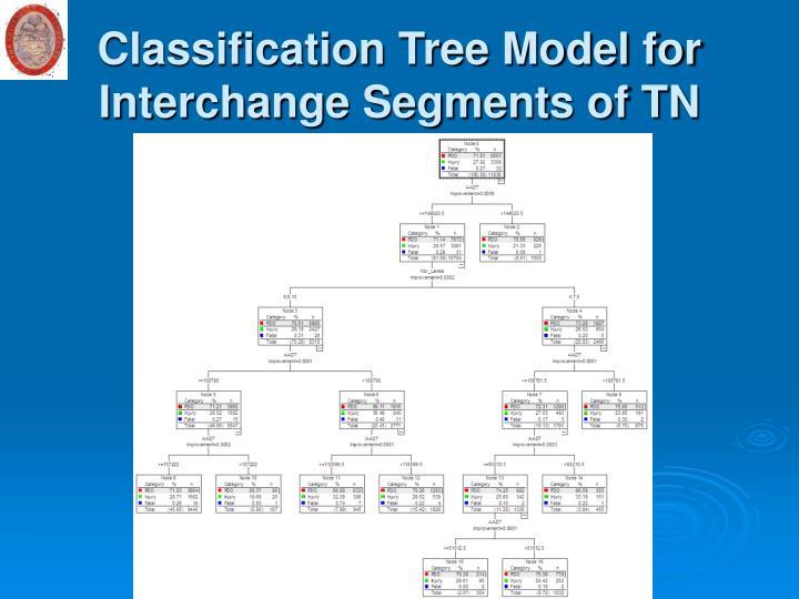 Classification Tree Model for Interchange Segments of TN