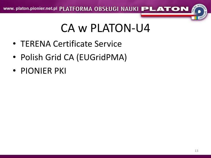 CA w PLATON-U4