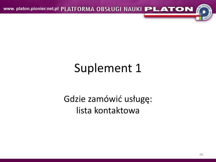 Suplement 1
