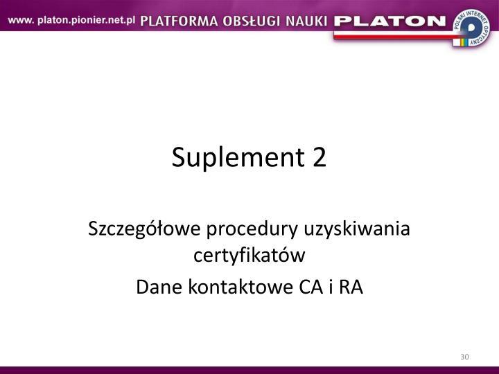 Suplement 2