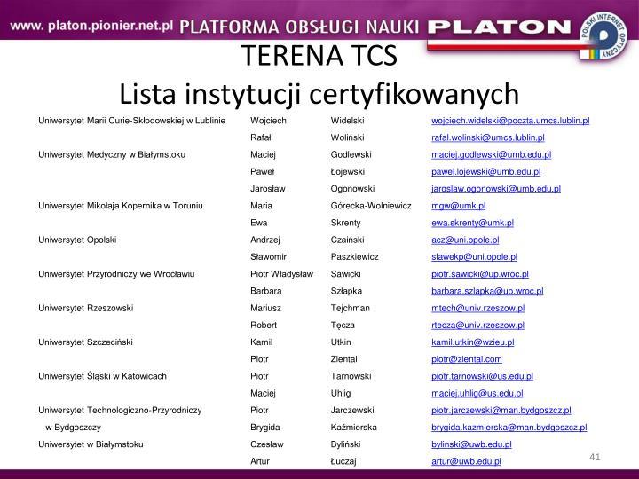 TERENA TCS